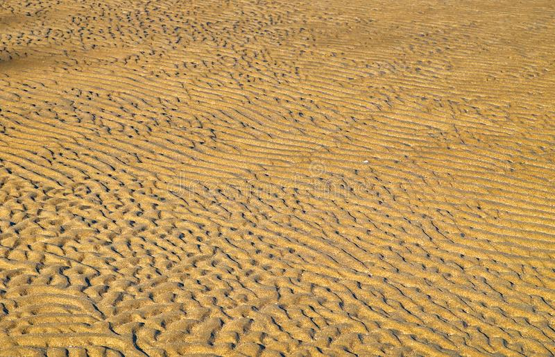 Sand ripples close up detail. Sand shapes seamless textured pattern royalty free stock photo