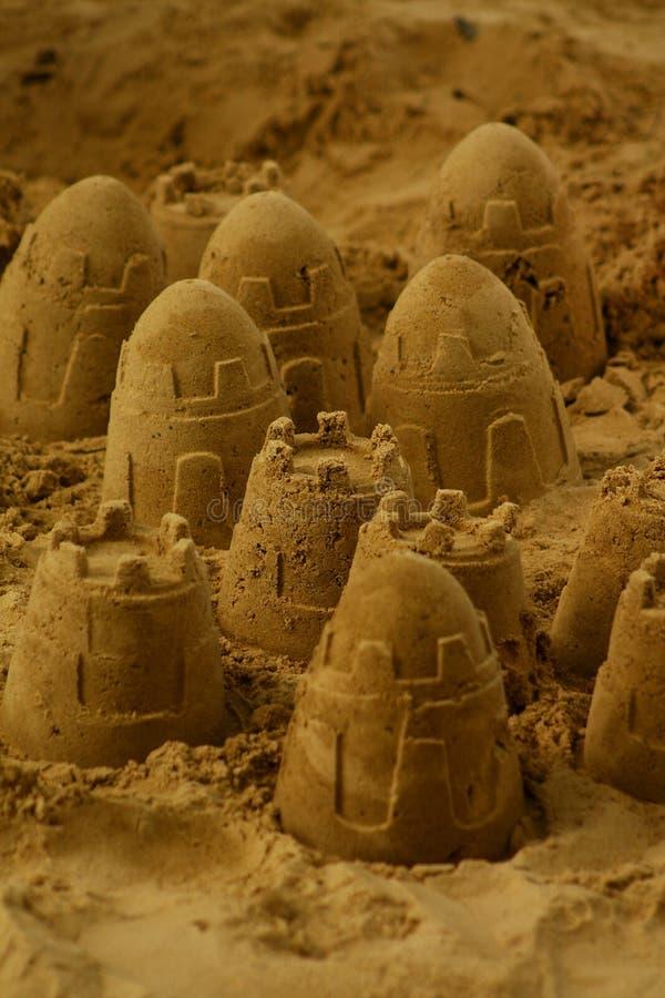 Sand-Schlösser stockfotografie