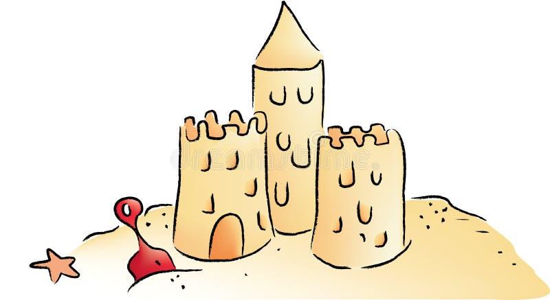Sand-Schloss lizenzfreie abbildung