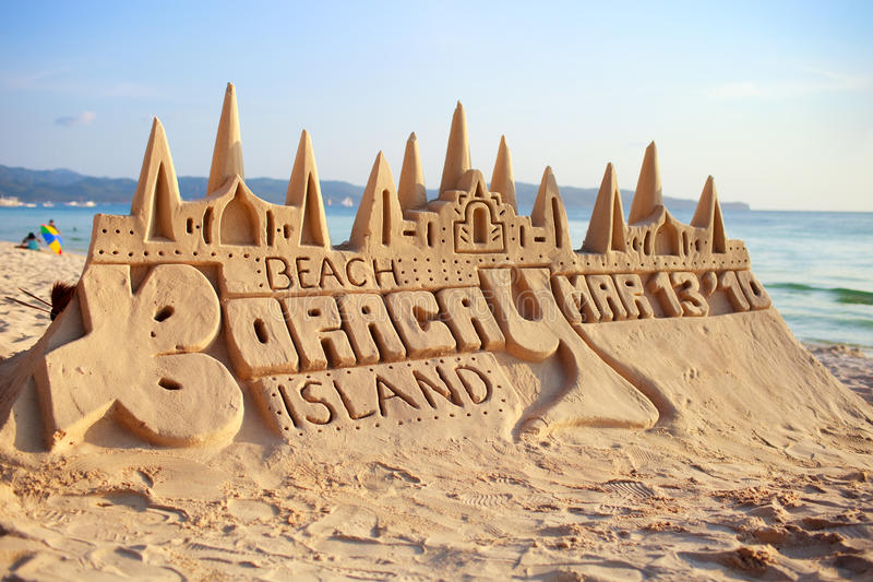 Sand-Schloss lizenzfreies stockfoto