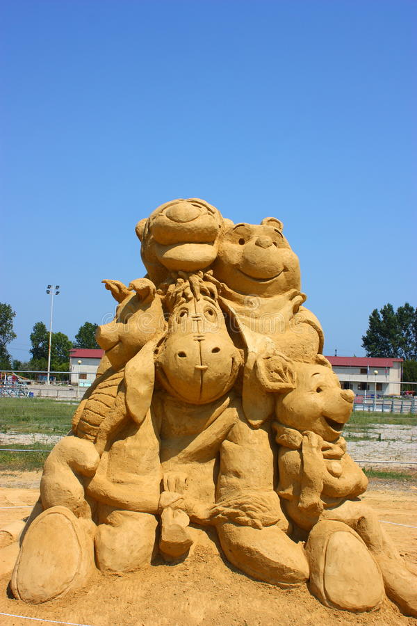 Download Sand Sculpture Of Winnie The Pooh Editorial Stock Photo - Image: 25700813