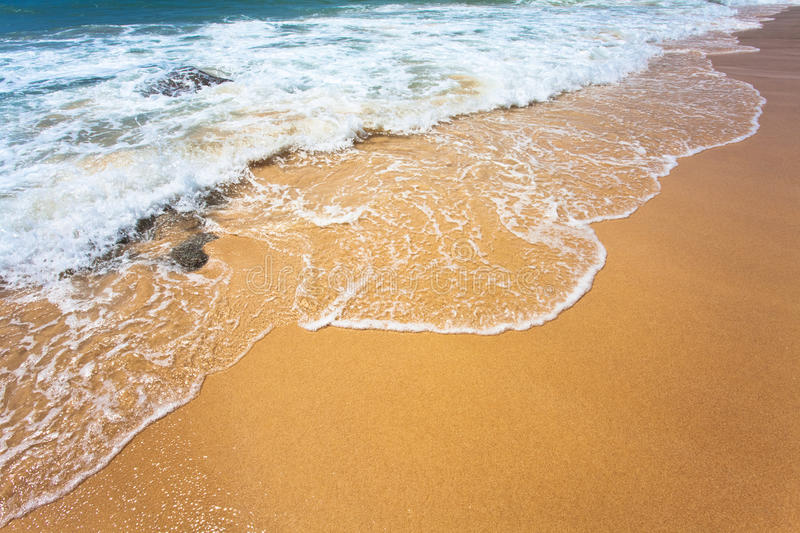 Download Sand and sea wave stock image. Image of recreation, dream - 14853101