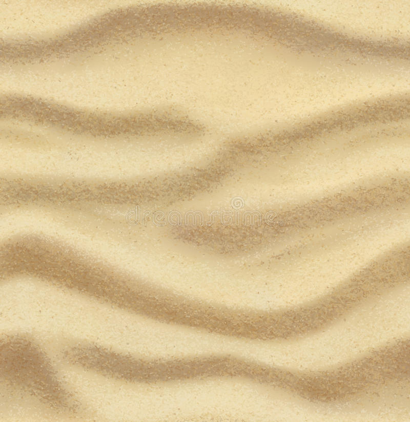 Sand seamless background stock illustration
