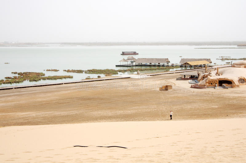 Sand See in China lizenzfreie stockbilder