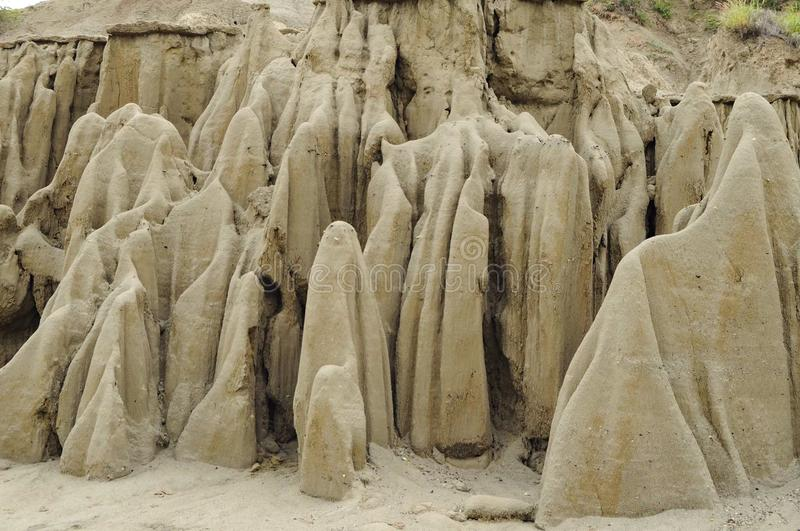 Sand in the shape of ghosts royalty free stock image