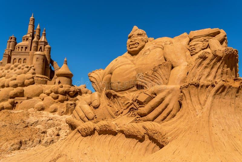 Sand-Skulptur bei Frankston 4 stockbilder
