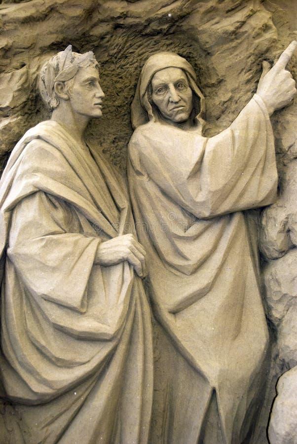 Sand-Skulpturen - der Ausgang von der Hölle stockbilder