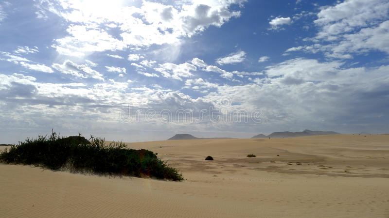 Sand and sky in Fuerteventura royalty free stock photos