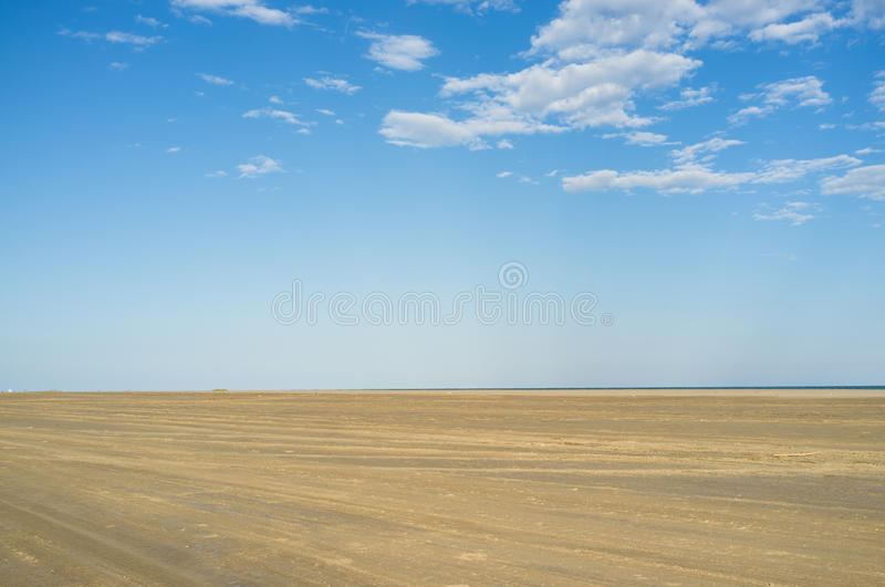 Sand and sky Mediterranean royalty free stock images