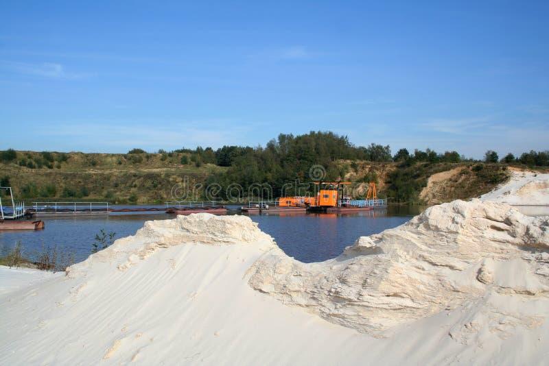Sand som bryter i Limburg royaltyfri bild