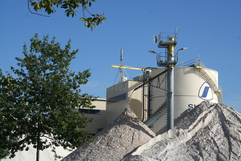 Sand som bryter i Limburg arkivbild