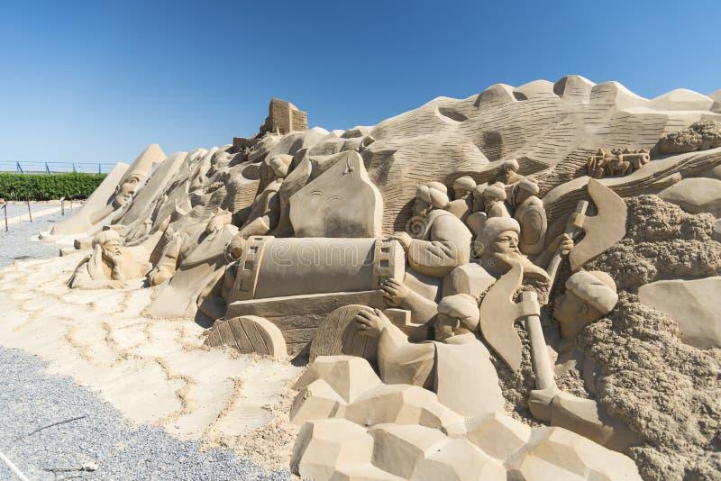 Sand-Stadt Hurghada stockfotos