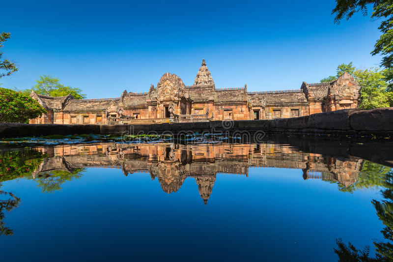 Sand stone castle, phanomrung in Buriram province. Thailand. Religious buildings constructed by the ancient Khmer art stock photography