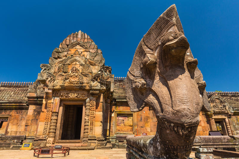 Sand stone castle, phanomrung in Buriram province. Thailand. Religious buildings constructed by the ancient Khmer art royalty free stock photo