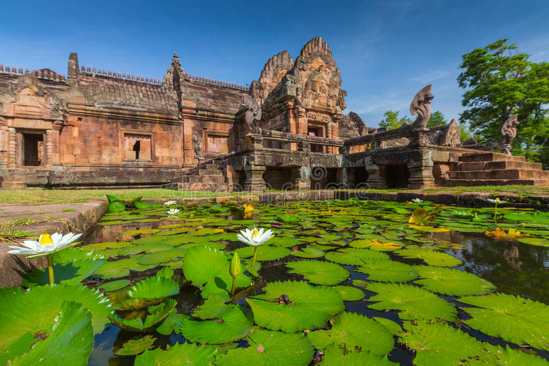 Sand stone castle, phanomrung in Buriram province. Thailand. Religious buildings constructed by the ancient Khmer art royalty free stock photos