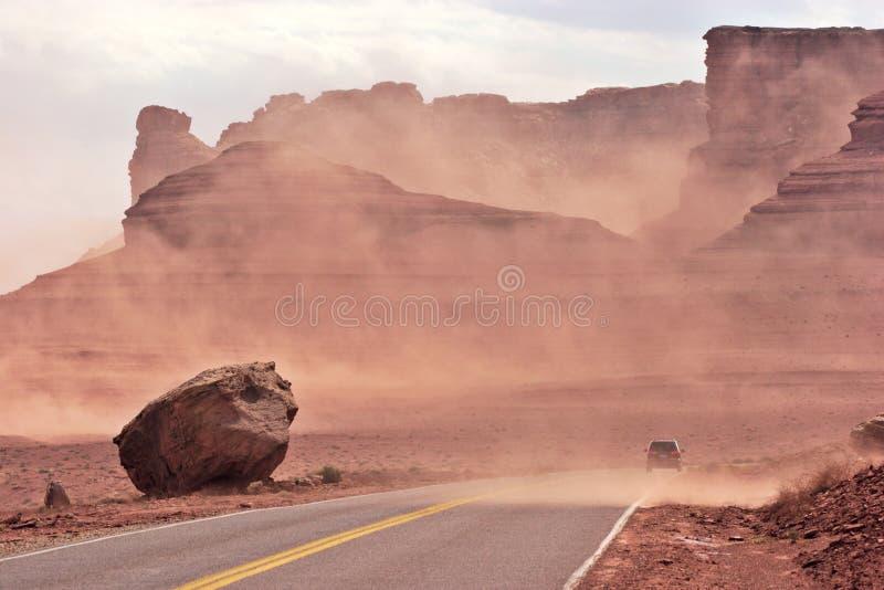 Sand storm. Glen Canyon National Recreational Area. Arizona, USA royalty free stock image
