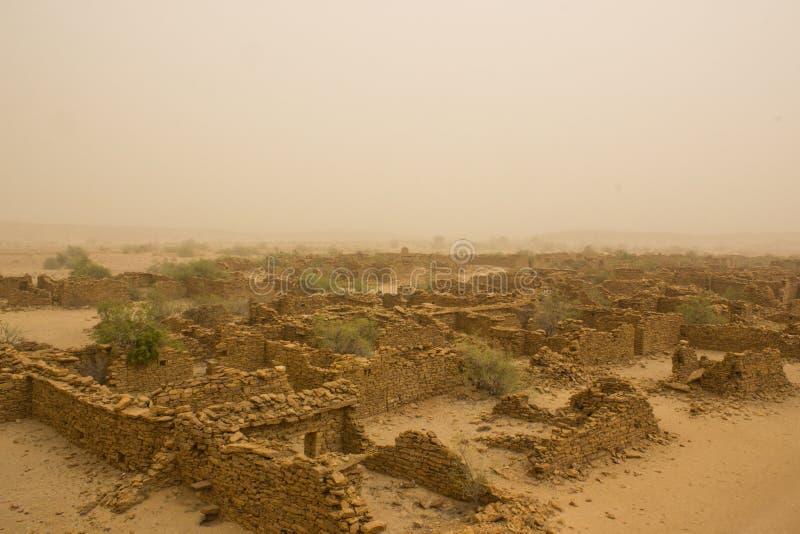Sand storm stock image