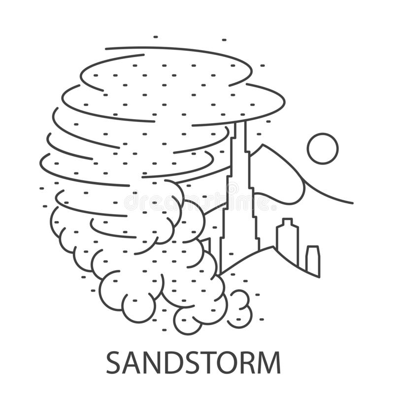 Sand Storm Natural Disaster stock illustration
