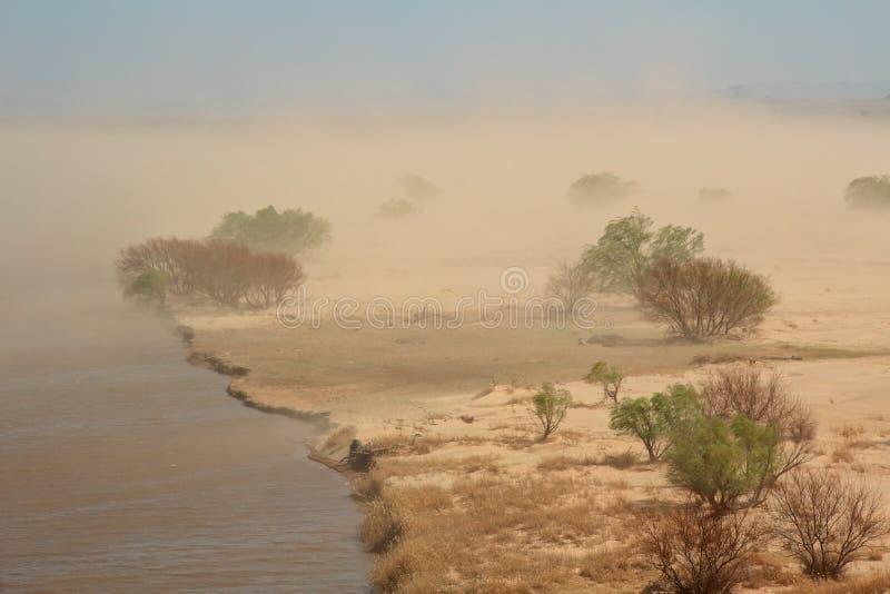 Sand storm royalty free stock photo
