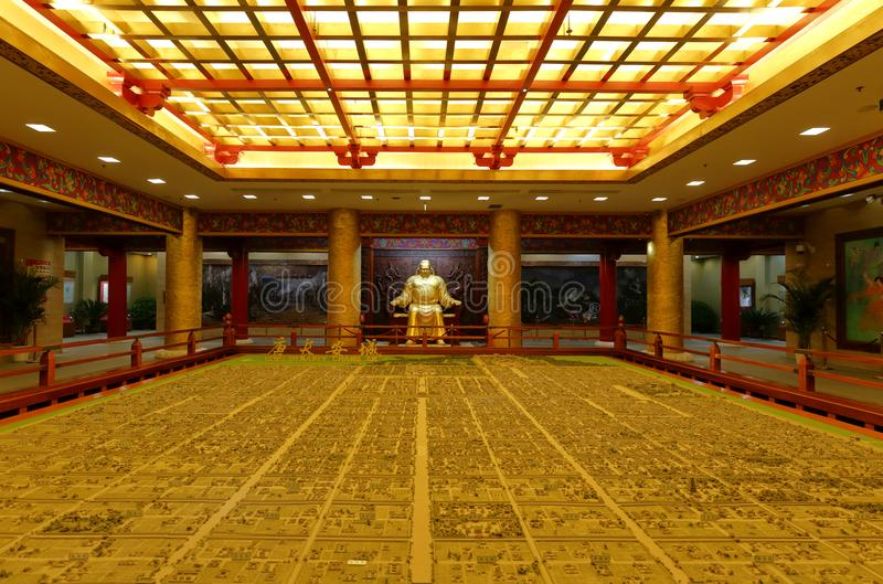 Sand table of changan capital of the tang dynasty, adobe rgb. Sand table of changan capital of the tang dynasty in datangfurongyuan park. xi`an, shaanxi province stock photos