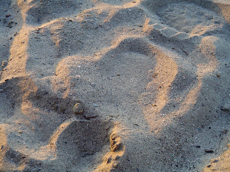 Download Sand Tale stock photo. Image of sunset, footprints, ocean - 165388