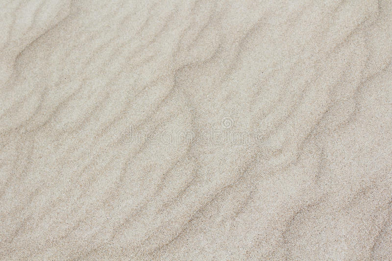 Sand texture. Closeup of white sand texture stock photo