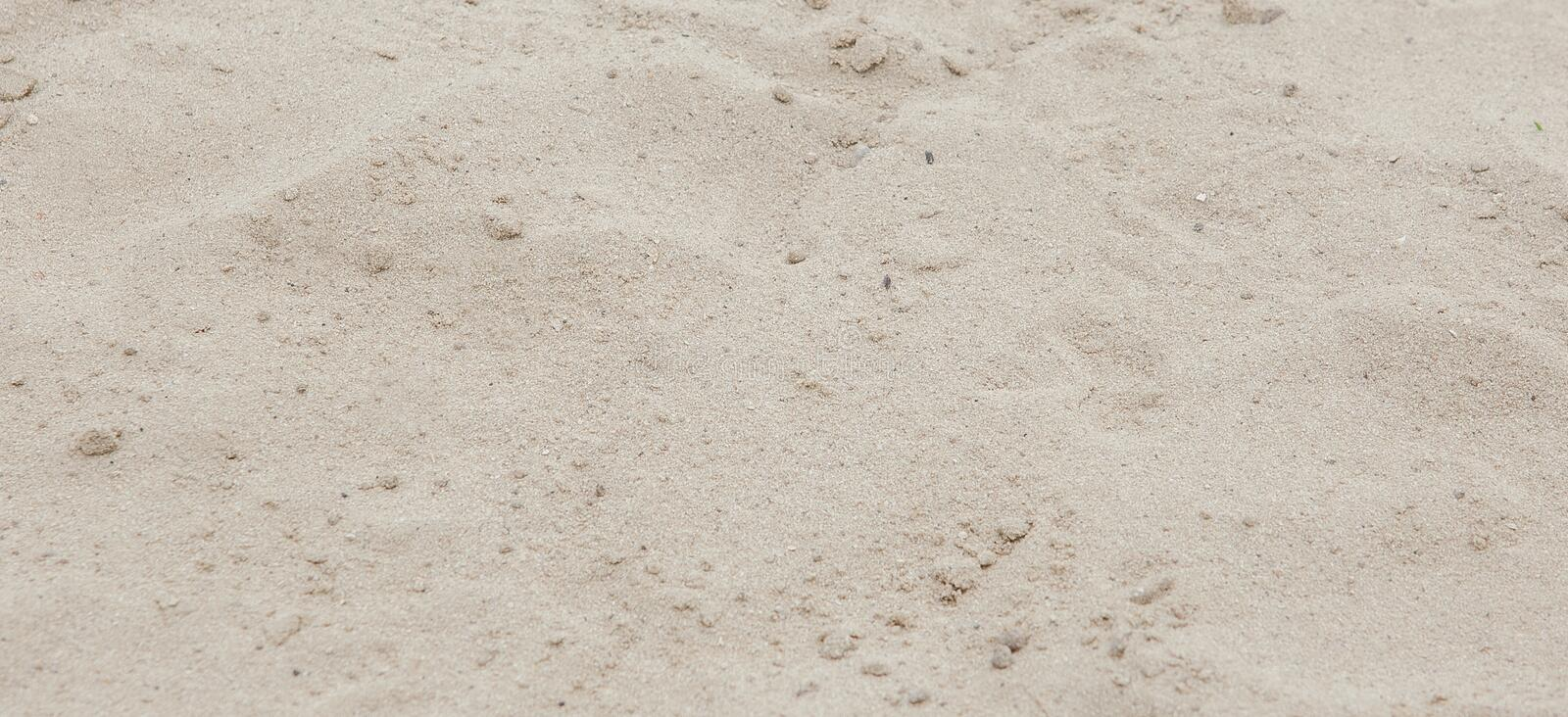 Sand texture. Sandy beach for background. Top view stock photography