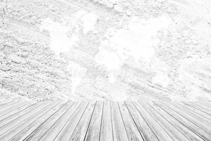 Download Sand Texture Surface With Wood Terrace And World Map Stock Photo    Image Of Gallery