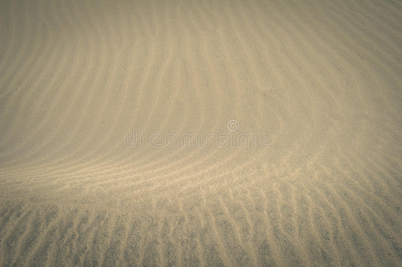 A sand texture view of the Natural Reserve of Dunes of Maspalomas, in Gran Canaria, Canary Islands, Spain royalty free stock photography