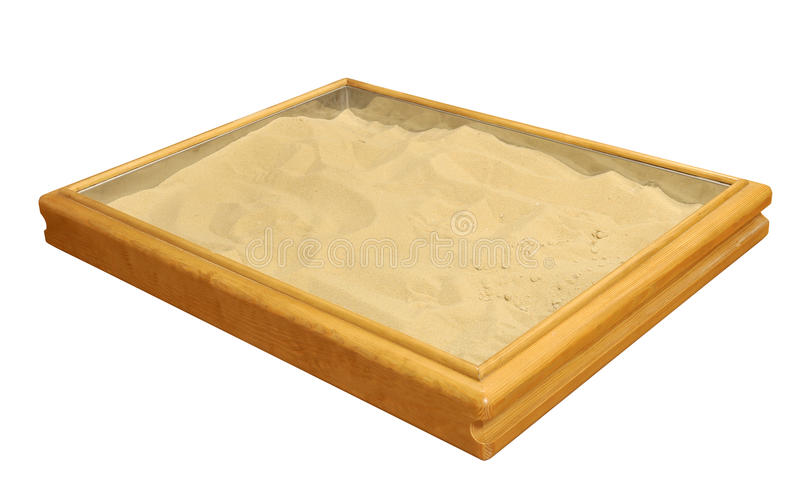 Sand therapy box royalty free stock photography