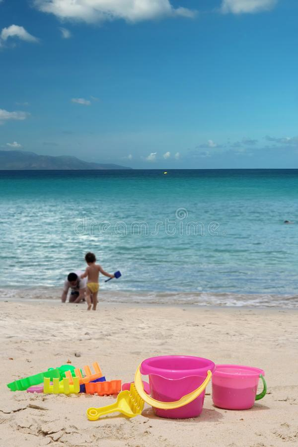 Sand toys royalty free stock images