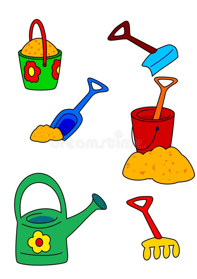 Sand toys vector illustration
