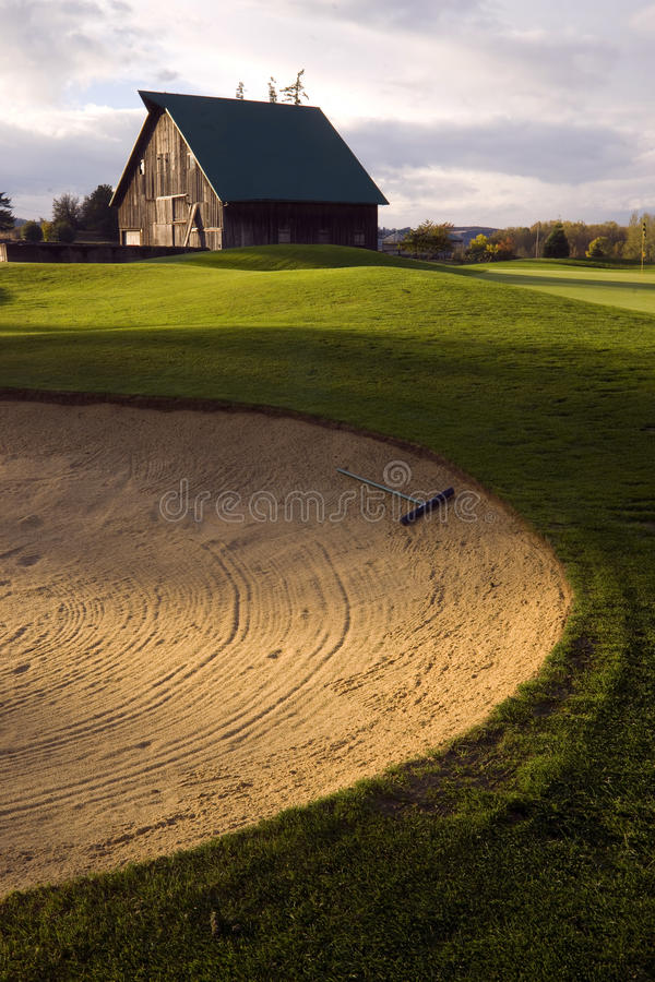 Sand Trap on Rural Country Golf Course