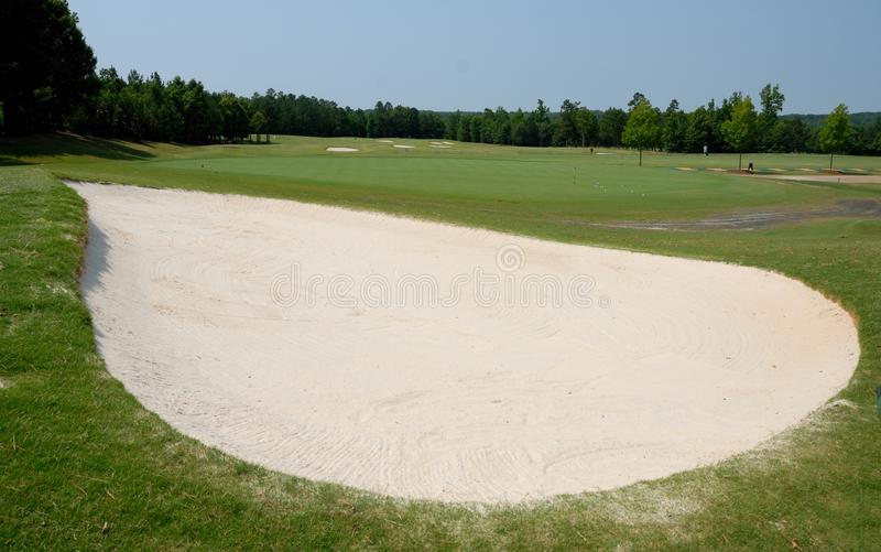Sand Trap at Golf Course. Sand trap at an American golf course in Georgia royalty free stock photos