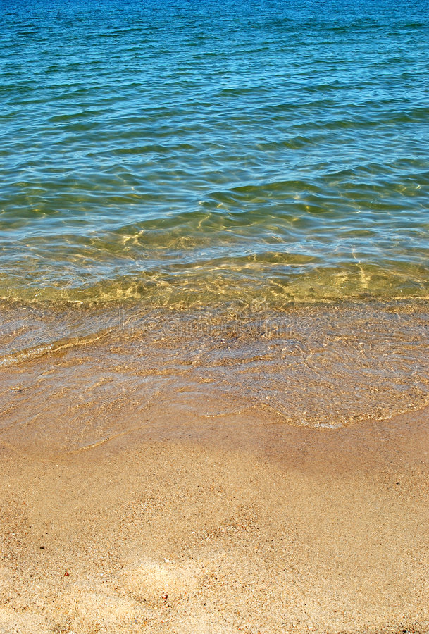 Sand und Wasser lizenzfreies stockbild