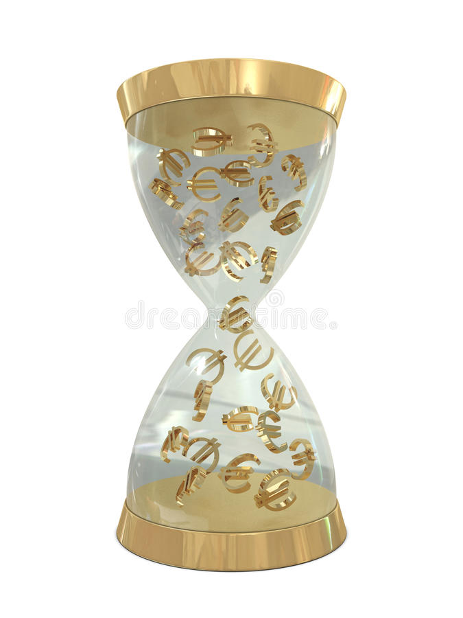 Free Sand-watch And Golden Euros Royalty Free Stock Photography - 17886117