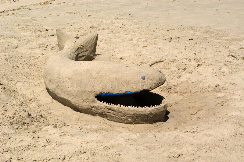 Download Sand Whale stock image. Image of sculpture, vacation, beach - 16961