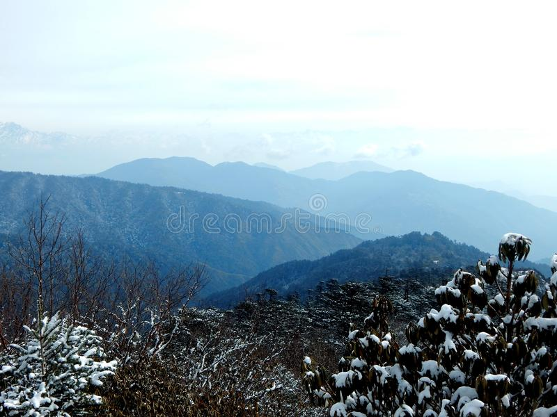 Sandakphu hill royalty free stock photography