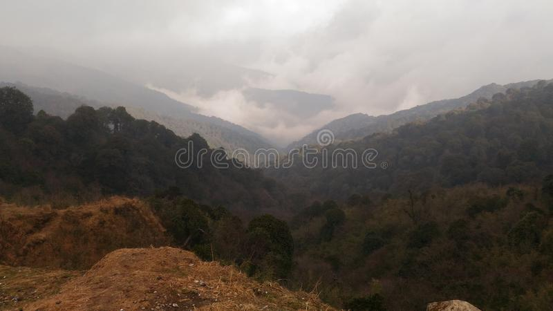 Sandakphu hill stock photo