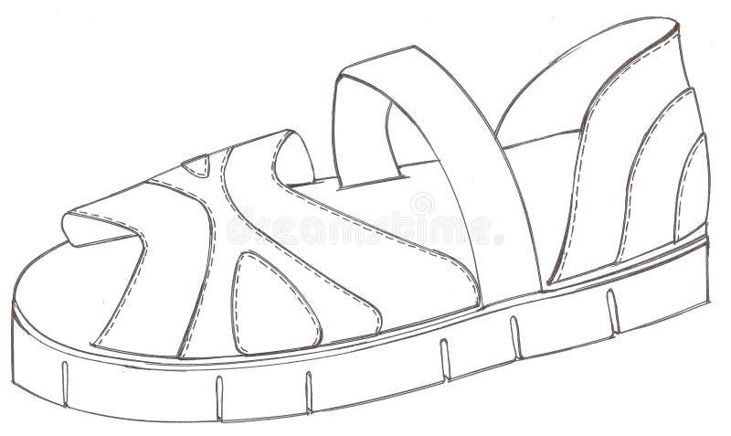 sandal stock illustrationer