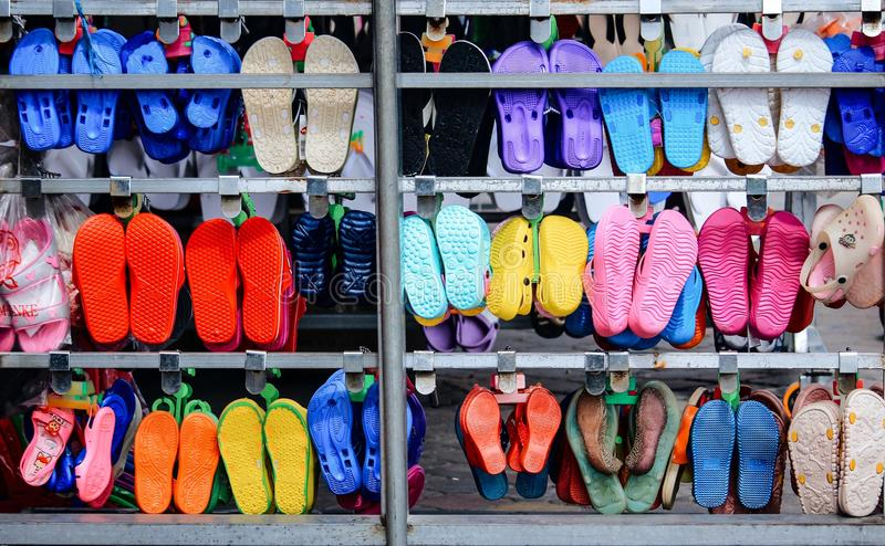 Sandal Asia colors Wallpeper background stock photo