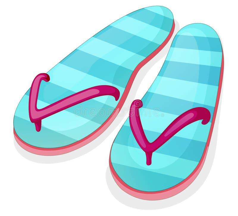 Sandal för blått band vektor illustrationer
