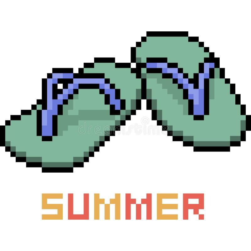 Sandal för sommar för vektorPIXELkonst stock illustrationer