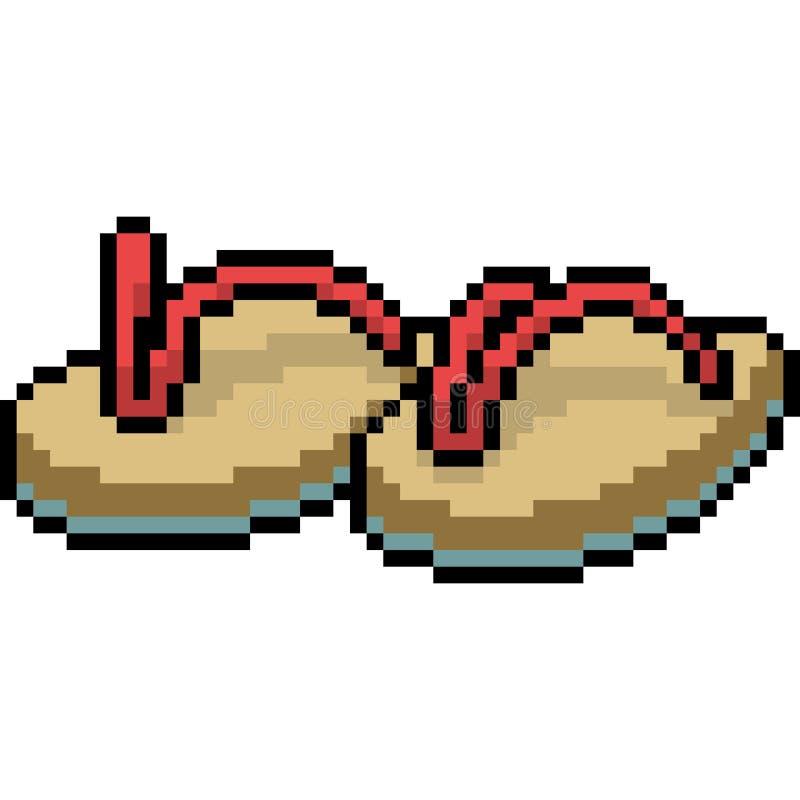 Sandal för strand för vektorPIXELkonst royaltyfri illustrationer