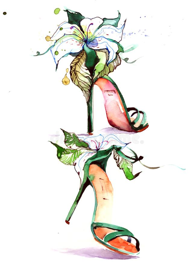 Sandaler royaltyfri illustrationer