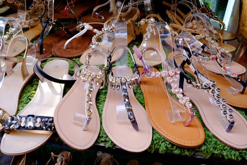 Sandales de dames images libres de droits