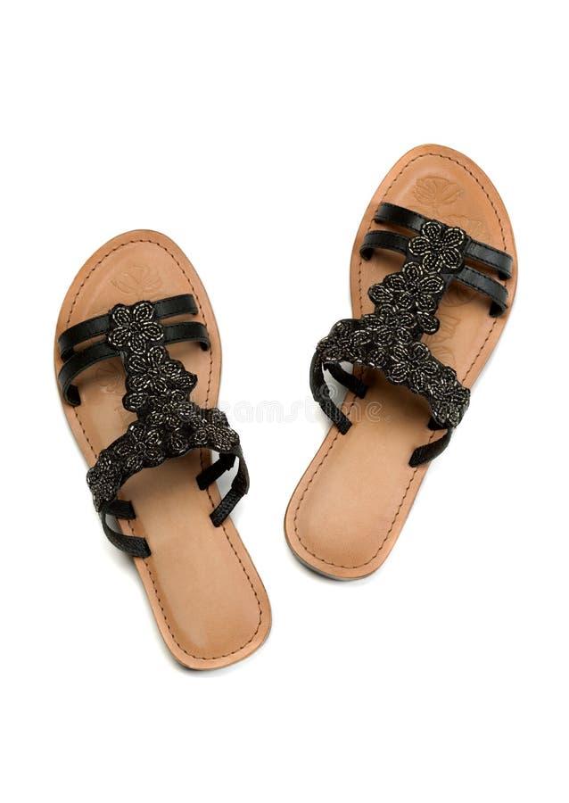 Sandales en cuir images stock