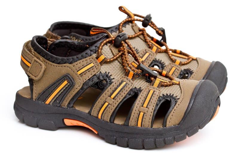 Sandali del ragazzo fotografie stock libere da diritti