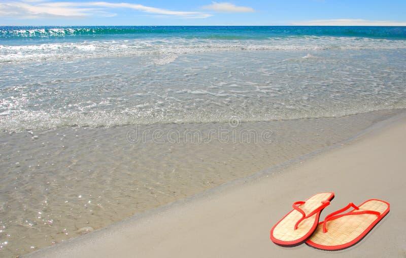 Sandali della paglia da Sea fotografie stock libere da diritti