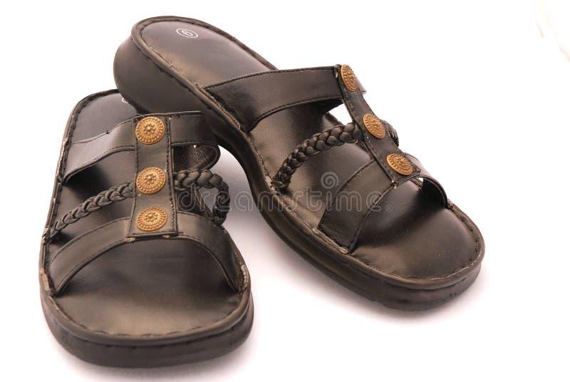 Sandali neri fotografia stock libera da diritti